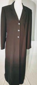 Vintage 80s Black Maxi Overcoat